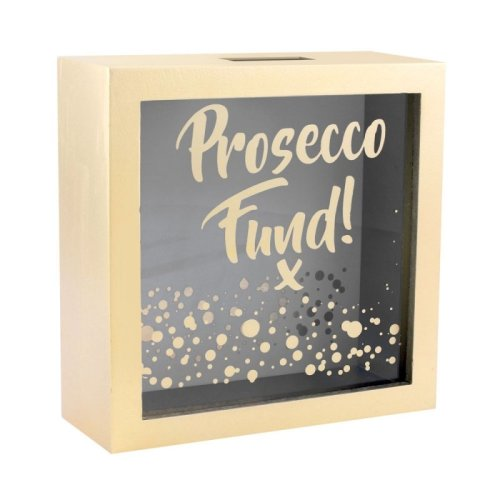 Gold Square Prosecco Money Box