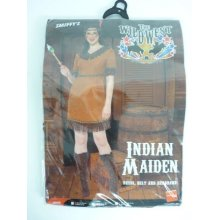 Small Ladies Indian Maiden Costume -  indian costume fancy dress ladies outfit squaw maiden 818 pocahontas wild west uk womens