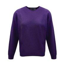 ProQuip Golf Julia Ladies Lambswool Sweater Crew Neck Jumper Purple Medium