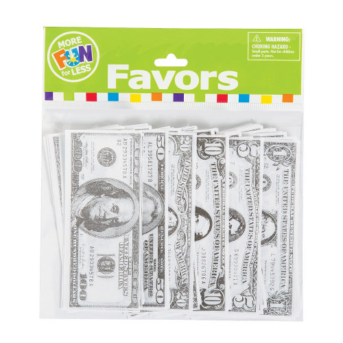100 x Paper Play Money