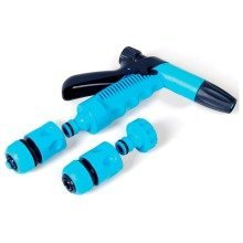 Garden Hand Sprinkler Plastic Spray 4 Piece 1/2'' Hose Connector Nozzle Set