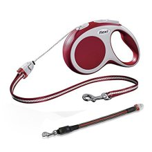 Flexi Vario Cord Dog Lead Red Small 8M & Flashing Cord Lead Small/Medium