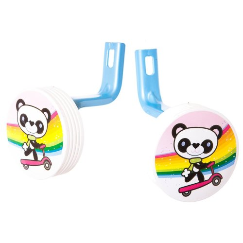 "12"" Wheel PANDA PALS BIKE STABILISERS PINK & BLUE New (No fittings needed)"