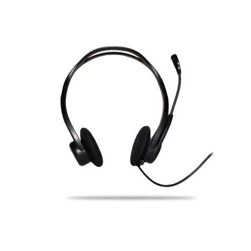 Logitech PC 960 USB Binaural Black headset