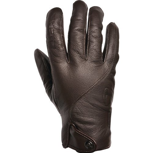 Richa Brooklyn Brown Waterpoof Leather Touring Cruiser Motorcycle Gloves
