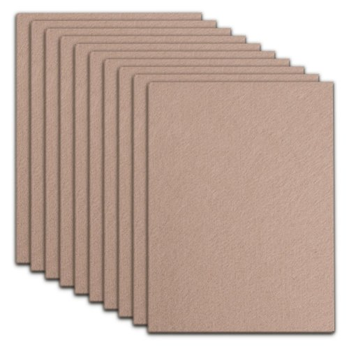 Furniture Pads Beige 10 Pack - 20cm x 15cm x 5mm Thick Self-Stick Heavy Duty DIY Felt Pads for Furniture with 3M Tapes Hardwood Floors Protectors...