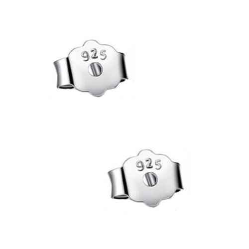 Nice Earring Locking  Backs 2 Pieces Silver Color