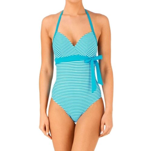 Freya Viper AS4423 WP Underwired Padded Halter Tankini Top Greyscale GSE