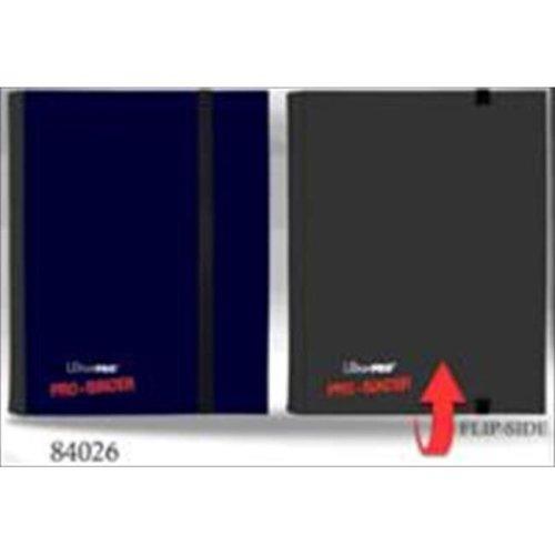 Ultra Pro 84026 4-Pocket Blue And Black Flip Binder