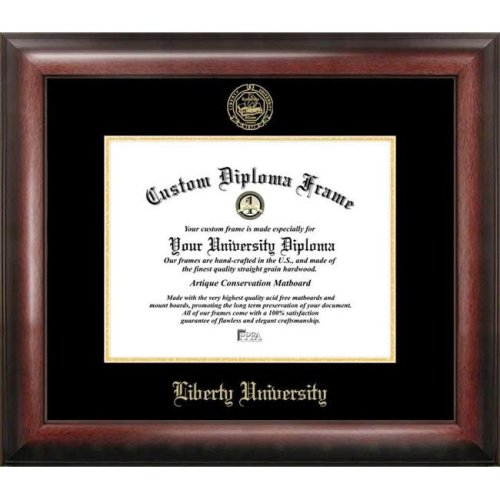 Liberty University Gold Embossed Diploma Frame