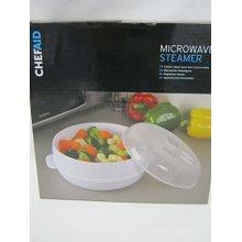 Chef Aid Microwave Steamer, White - Steamer New Vegetable Plastic 10e10803 -  microwave steamer white new chef aid vegetable plastic 10e10803