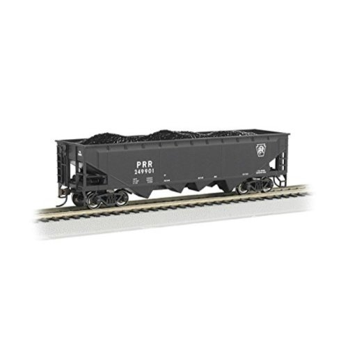 Bachmann Industries 40' Quad Hopper Pennsylvania Car, Black, HO Scale
