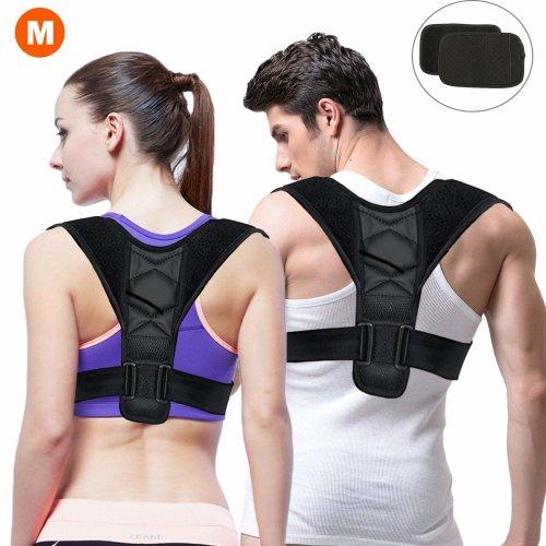 Gifort Back Posture Corrector, Back Shoulder Waist Support Belt, Adjustable Posture Brace for Men or Women Physical Trainer Therapy - Back,...