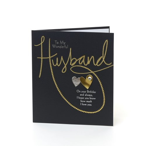 Beautiful Foiled Husband Birthday Card
