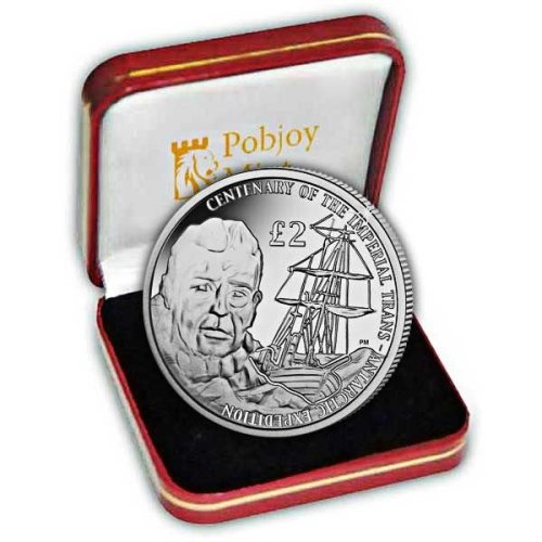British Antarctic Territory 2015 Centenary of the Imperial Trans-Antarctic Expedition Proof Silver Coin