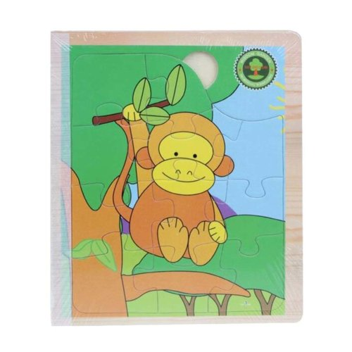 Lovely Children Wooden Three-dimensional Small Animals Scenes Jigsaw Puzzle