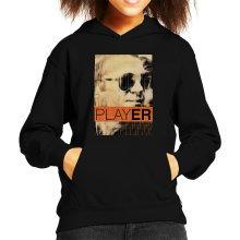 Steve McQueen 1965 Player Poster Sepia Kid's Hooded Sweatshirt