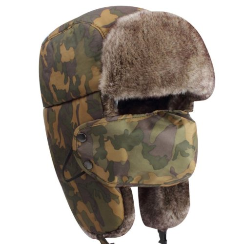 f50572b67 Camouflage Men & Women Winter Hat Earmuffs Ski Hat Skiing Cap