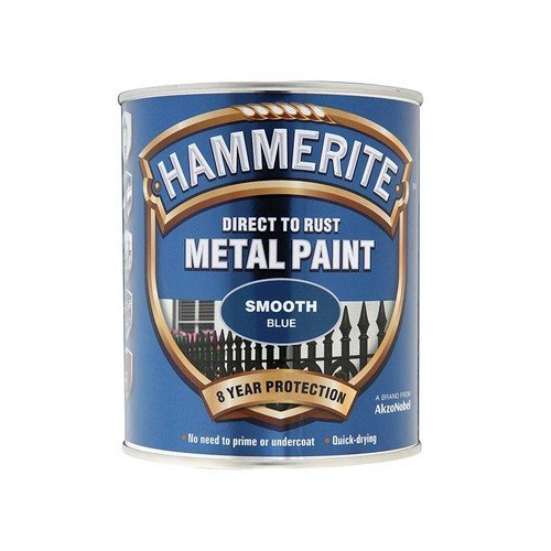 Hammerite SFB750 Direct to Rust Smooth Finish Metal Paint Blue 750ml
