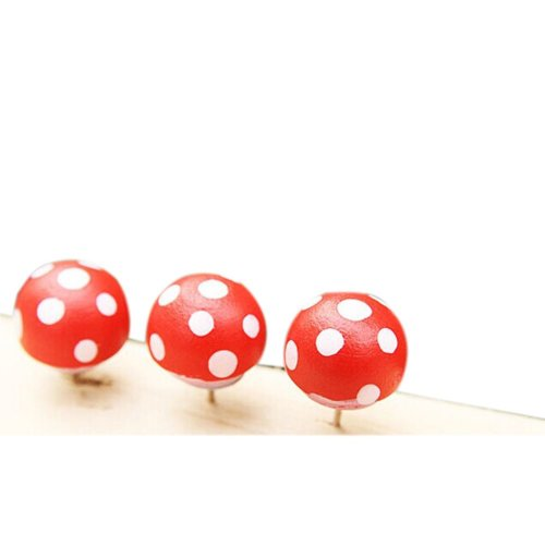 Creative Office Item/Woodiness Colorful Painting Mushrooms Pushpins/20 Piece