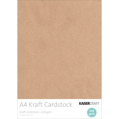 Kaisercraft Cardstock A4 20/Pkg-Kraft, 220gsm