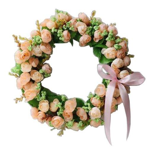 Artificial Wreath Hanging Floral Garland Door Wreath Wedding Decor #08
