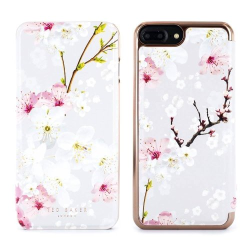995a1fa46805a7 Ted Baker Official SS17 Fashion Mirror Folio Case for iPhone 8 Plus   7  Plus