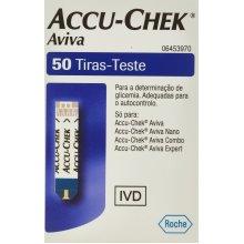 Accu Chek Aviva Glucose Test Strips - Pack of 50