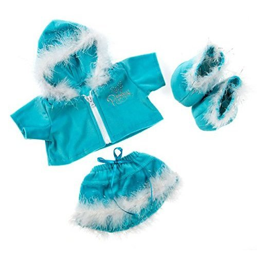 "Blue Princess Sparkle Outfit w/Blue Boots Teddy Bear Clothes Fits Most 14"" - 18"" Build-a-bear, Vermont Teddy Bears, and Make Your Own Stuffed Animals"