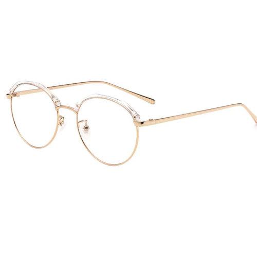 Personality Polygon Flat Glasses Retro Decorative Glasses Frames -Transparent