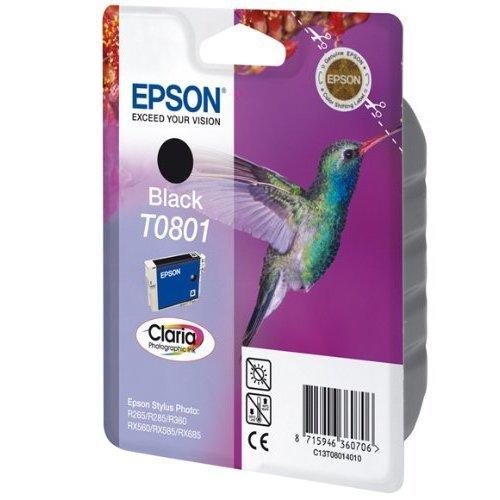 Epson Original T0801 Claria Black Ink Cartridge