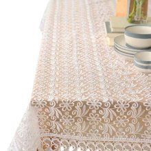 Lace Tablecloth Piano/TV Set Cover Cloth Home Tablecloth 85X85 CM-White