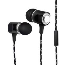 Bytech stereo earphones with microphone - Black  owNew model