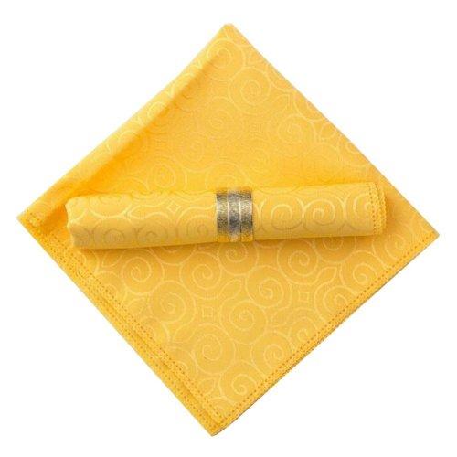 [Yellow-2] 6 Pcs Colorful Cloth Napkins Fabric Napkins Floral Print Napkins