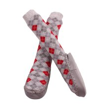 Minene Grey and Red Sock Slippers (12-18 Months)