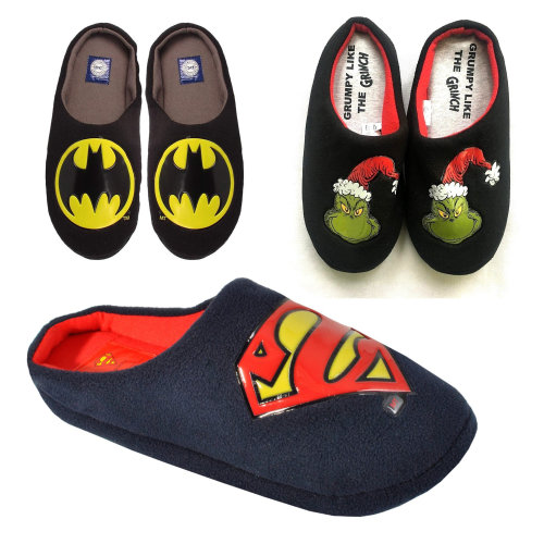 bb0546ab851c Mens Original DC Comics Mule Superman Grinch Slippers on OnBuy