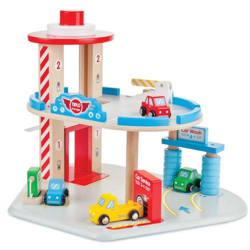 Tidlo Wooden Garage Playset