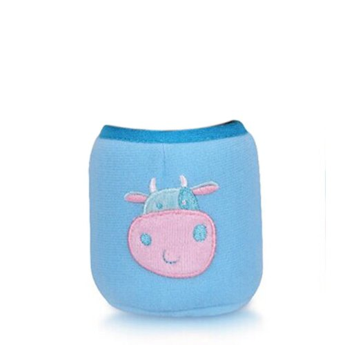 Feeder Milk Bottle Deading Warm Keep Pretecter Bag (8*5.5CM)/Blue Cow