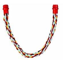 Trixie Multi-colour Rope Perch, 66cm x 18mm - Perch Bird Flexible Sizes -  perch rope trixie bird flexible sizes cockatiels 66cm