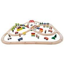 Wooden Train Set - 100 pieces