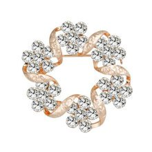 2PCS Womens Fancy Brooch Elegant Brooches and Pins With Clear Crystals, No.3