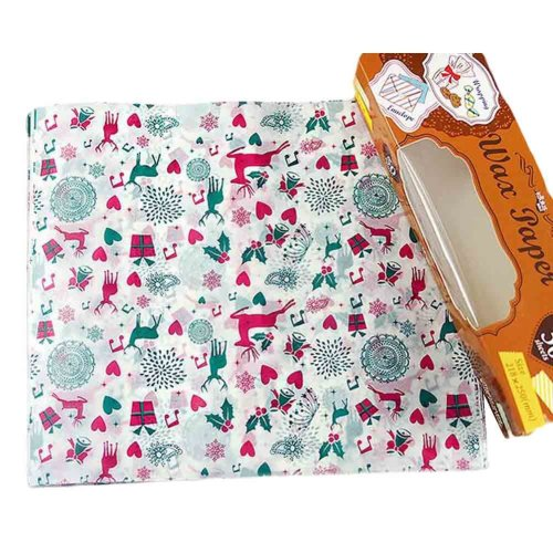 Creative Beautiful Stamp Pattern Wax Paper Greaseproof Baking Paper 8.5*9.8""