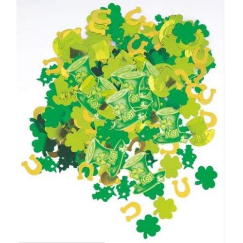 St Patricks Day Metallic Confetti 14g Ireland Irish Eire Theme Party Decoration Lucky Stripes