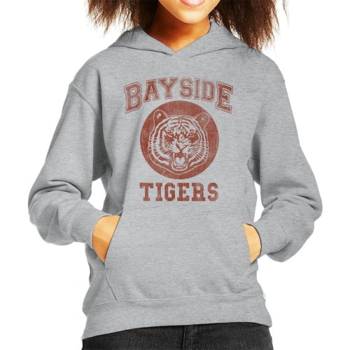 Saved By The Bell Inspired Bayside Tigers Kid's Hooded Sweatshirt