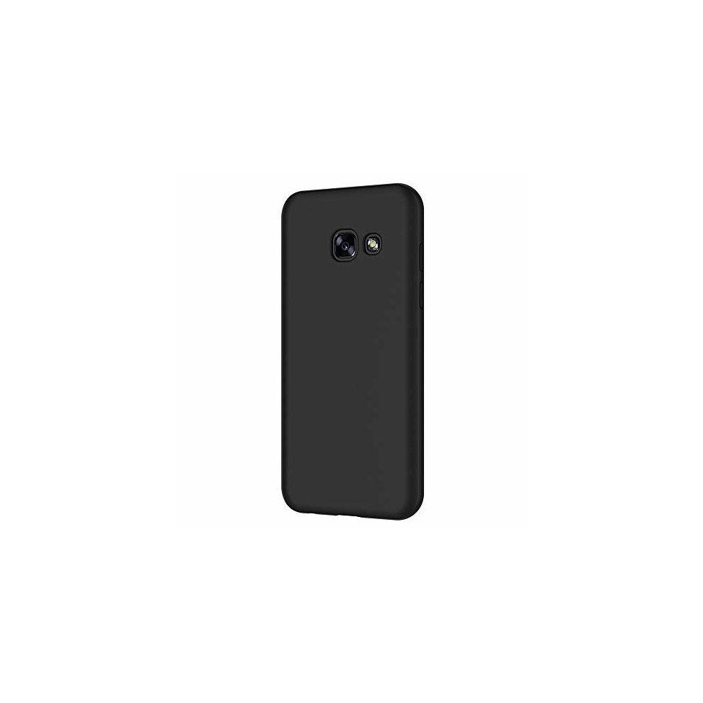 Samsung Galaxy A5 2017 Case, AICEK Black Silicone Cover for Galaxy A5 2017  Black Case A520