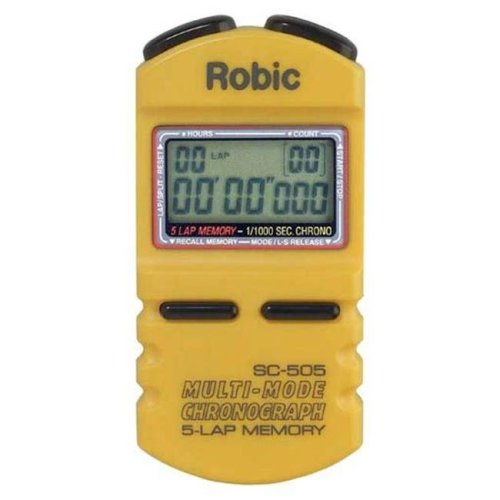 Olympia Sports TL031P Robic SC-500 5 Memory Timer - Yellow