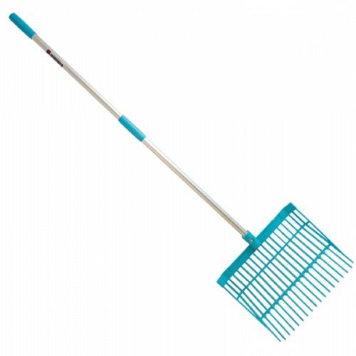 """Faulks Shavings Bedding Fork Nylon Head 48"""" Handle"""