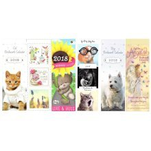 2018 Small Bookmark Pocket Slim Calendar Tear Off Christmas Birthday Gift Cute