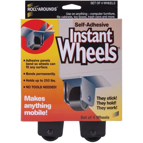 "Self-Adhesive Instant Wheels-1""X1.5"" 4/Pkg"