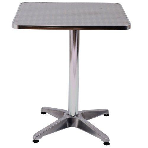 Homcom Height Adjustable Bistro Table  Aluminium Edge 60 X 60cm